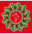 Greeting card with wreath from Poinsettia vector image vector image