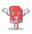 grinning ice cream character cartoon vector image vector image