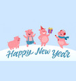 happy new year - modern cartoon character vector image vector image