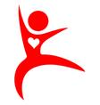 Healthy sport symbol vector image