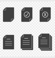 icons of documents - simple approved rejected vector image vector image