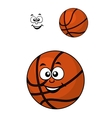 Isolated basketball ball with a happy face vector image vector image
