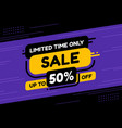 label template mega sale limited time only flat vector image vector image