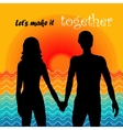 lets make it together vector image
