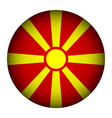 Macedonia flag button vector image vector image