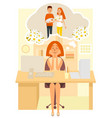 maternity dreams flat style design vector image
