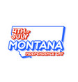montana state 4th july independence day with vector image vector image