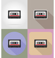 multimedia flat icons 03 vector image