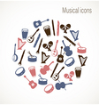 Musical instrument icons vector image vector image
