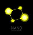 nanotechnology creative logo design vector image vector image