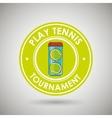 play tennis design vector image vector image