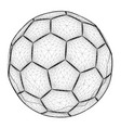 polygonal ball wireframe contour soccer vector image vector image
