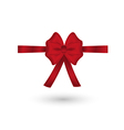 red elegant bow vector image vector image
