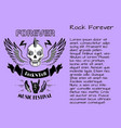 rock and roll forever music festival poster vector image vector image