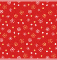 seamless pattern background winter vector image