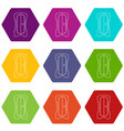 sharpener icons set 9 vector image vector image