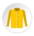 shirt icon circle vector image vector image