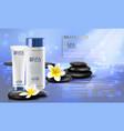 spa cosmetics advertising brochure template vector image vector image