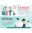 Stress on the work Office life and business man vector image vector image