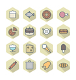 Thin Line Icons For Food vector image vector image