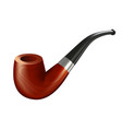 tobacco pipe vintage wooden smoker device vector image vector image