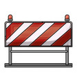 traffic barrier flat icon in colored crayon vector image vector image