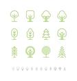 Tree icons set 1 vector image