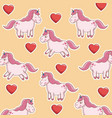 unicorn horse animal sweet character pink vector image