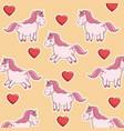 unicorn horse animal sweet character pink vector image vector image