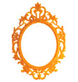 vintage gilded frame on white background vector image