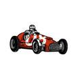 vintage sport racing car vector image vector image