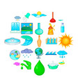 water dam icons set cartoon style vector image vector image