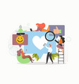 young people collecting and providing social media vector image