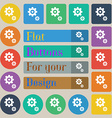 gears icon sign Set of twenty colored flat round vector image