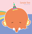 cute card with cute elephant vector image
