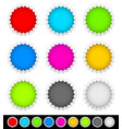 18 bright blank badge starburst shapes vector image