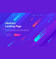 abstract background landing page template website vector image vector image