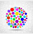 abstract ball of colorful circles vector image vector image
