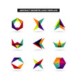 abstract colorful layer geometry shape logo sets vector image vector image