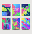 abstract fun a4 brochure cover templates with vector image