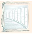 abstract white corridor vector image vector image
