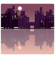 an american evening city background vector image