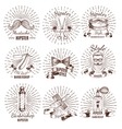 Barbershop Hipster Style Labels vector image vector image