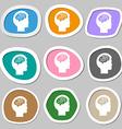 Brain symbols Multicolored paper stickers vector image