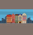 building town road vector image