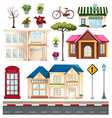 buildings and things we see on street vector image
