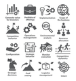 Business management icons Pack 15 vector image vector image