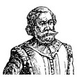 captain john smith vintage vector image vector image