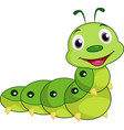 cartoon happy caterpillar vector image vector image
