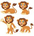 Cartoon lion collection set vector image vector image